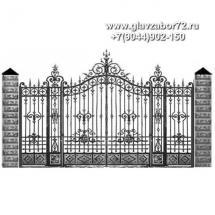 Кованые ворота КВ-118