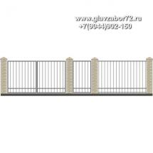 Забор плюс ворота ЗВ-2
