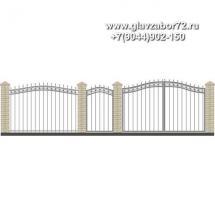 Забор плюс ворота ЗВ-11