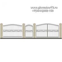Забор плюс ворота ЗВ-23