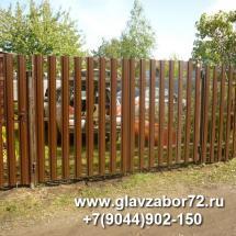 Ворота из металлоштакетника с\о Металлист