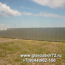 Забор из оцинкованного профнастила днт Серебрянный бор, Тюмень