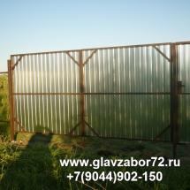 Ворота из профнастила пос Дербыши(2)