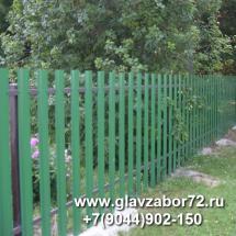 Забор из металлоштакетника г.Тобольск
