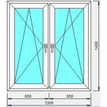 №4 - Окно пластиковое(двустворчатое)
