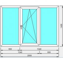 №5 - Окно пластиковое(трехстворчатое)