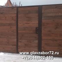 Калитка деревянная внутри ворот, Тюмень, Княжевская