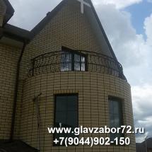 Балкон кованый Тюмень, Новотарманск