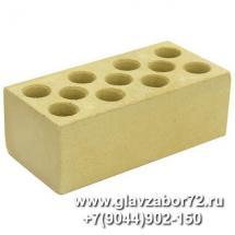 Кирпич силикатный пустотелый полуторный лицевой (жёлтый) ГОСТ 379-95 (с завода)