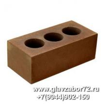 Кирпич силикатный пустотелый полуторный лицевой (коричневый) ГОСТ 379-95 (с завода)