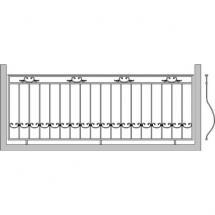 Кованый балкон КБ-2