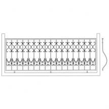 Кованый балкон КБ-3