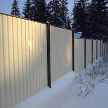 Заборы зимой